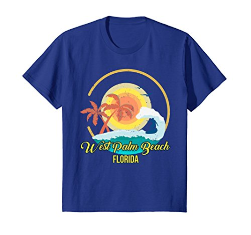 Kids West Palm Beach Florida Tshirt 6 Royal - Fashion Beach Palm West