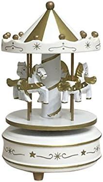 LZDseller01 Bo/îte /à Musique de carrousel E bo/îte de man/ège avec lumi/ère Flash Cadeau Musical color/é de bo/îte /à Musique man/ège /à LED pour Le Festival de No/ël denfants de Petite Amie