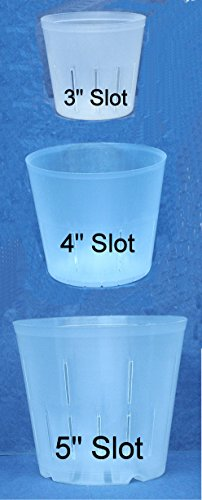 Clear Plastic Pot for Orchids Assortment 3inch, 4inch, 5inch with ID your Orchids booklet by coMarket
