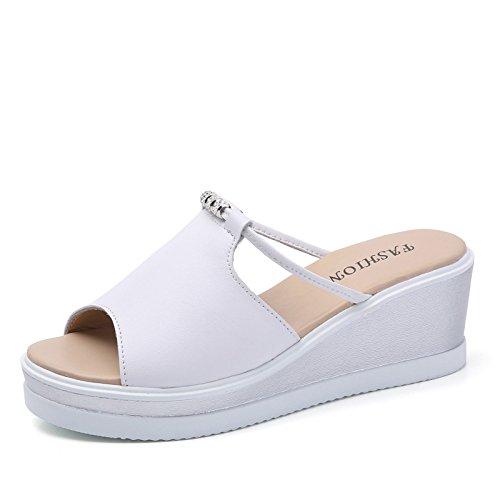 inferior Forty mujer Donyyyy Zapatos grueso ocio zapatillas fresco de y verano Ex8qxv7r