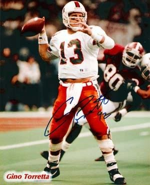 Signed Gino Torretta Photo - Miami Hurricanes 8x10 92 - Autographed ... 0bed4f245