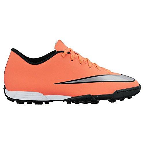 Nike Mercurial Vortex II TF Botas de fútbol, Hombre Amarillo / Plateado / Verde (Brght Mng / Mtllc Slvr-Hypr Trq)
