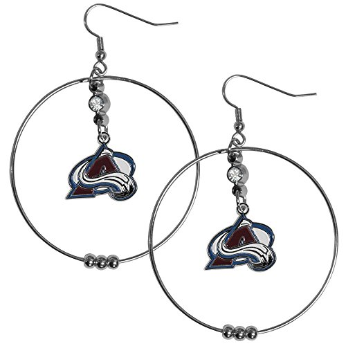 Colorado Avalanche Nhl Light - NHL Colorado Avalanche Hoop Earrings, 2