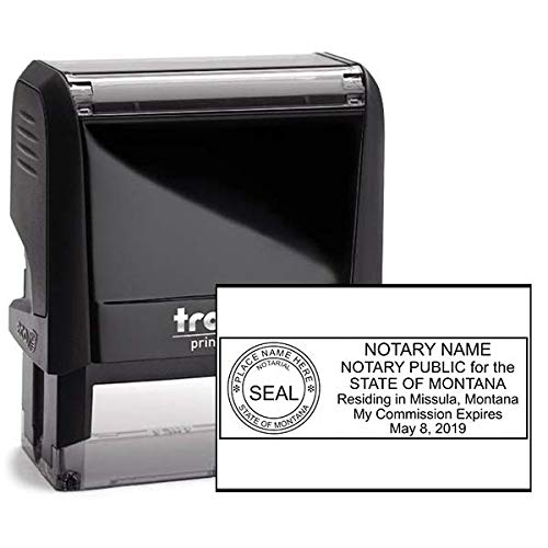 Montana Rectangle Notary Stamp -MT Official Notary Stamp - Enter Custom Text