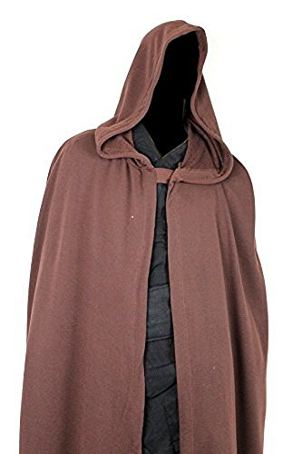 (Luke Skywalker Robe Jedi Cloak Costume Star Wars Wear Rotj Brown)
