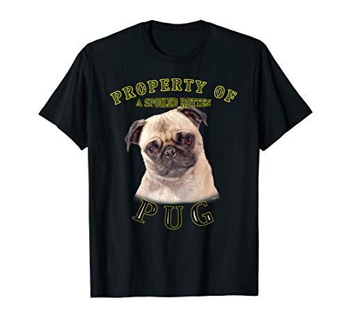 Pug 2 Property Of T Shirt by Vinny S. Breed Black Pug T-shirt