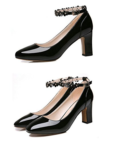 Dress Women WENDYWU Shoes 7 Fashion black Pumps pHEP0qOxw