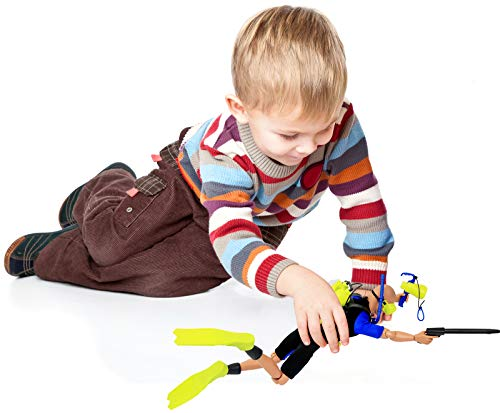 Click N Play CNP30589 Sports /& Adventure Diver Action Figure Play Set with Accessories Brown//A Click N/' Play SG/_B07G9PMGGQ/_US
