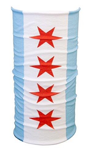 Chicago Flag Multifunctional Scarf, sunmask, Balaclava, Great Neck Gaiter or Bandana (Chicago) ()