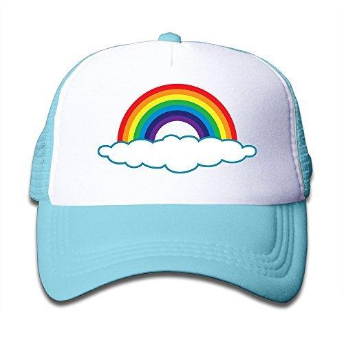 (Kids Custom Trucker Hat Rainbow Mesh Hats Adjustable Baseball Caps)