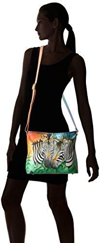 Handpainted Bag Anuschka zebra Anna Zbs Women's Safari Leather Rx57qw5zC