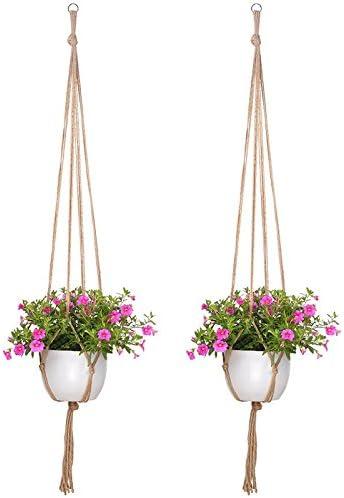 Kentop Lot de 2 suspensions pour plantes dint/érieur et dext/érieur avec porte-cl/é