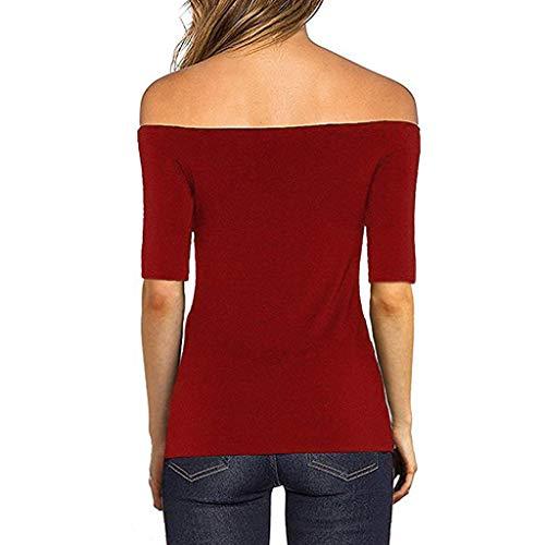 Startview Womens Short Sleeve Fashion Blouse Off Shoulder ...