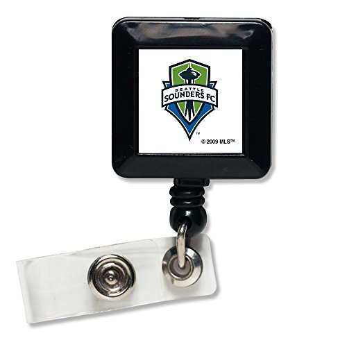fan products of SOCCER Seattle Sounders Retractable Badge Holder, Black