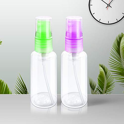 7 PCS 30ml Mist Spray Bottles Portable Refillable Fine Transparent Plastic Empty Mist Bottle with Funnels for Travel (30ml)