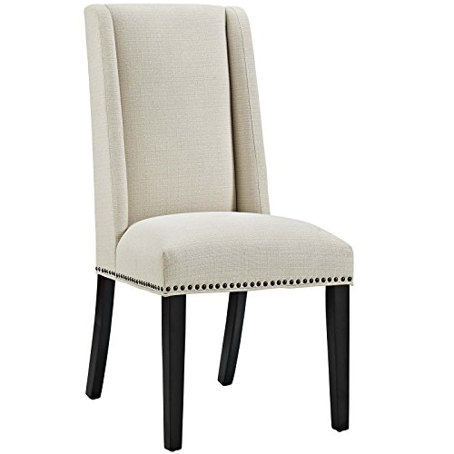Modway Baron Fabric Dining Chair in Beige