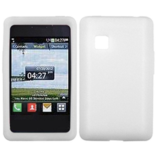 MyBat Solid Skin Cover for LG 840G - Retail Packaging - White