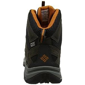 Columbia Men's Terrebonne Mid Outdry Hiking Boot, Black, Bright Copper, 13 D US