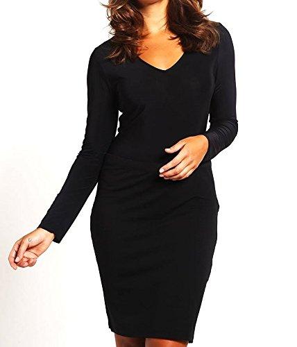 MISSGUIDED PLUS Damen Langarmshirt - black Gr. 44