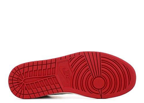 Red Jordan 1 Toe Retro Black Bred High Air Kids White OG c8WfcBqp1