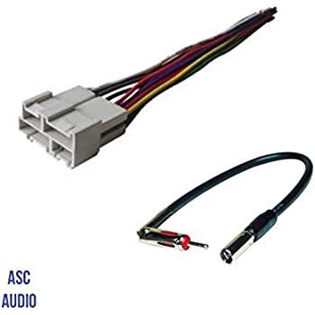 gmc factory radio wire harness for aftermarket car amp factory radio wire diagram for kia amazon.com: asc audio car stereo wire harness and antenna ...