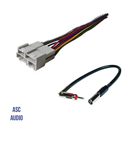(ASC Audio Car Stereo Wire Harness and Antenna Adapter to Aftermarket Radio for some GM Buick Cadillac Chevrolet GMC Oldsmobile Pontiac Saturn- No Factory Bose/Amp- Compatible Vehicles listed below)
