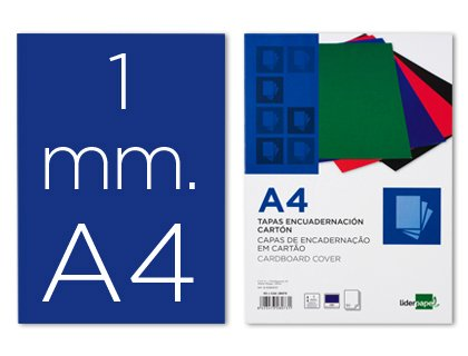 Liderpapel 64091 - Pack de 50 tapas de encuadernación carton, 1 mm ...