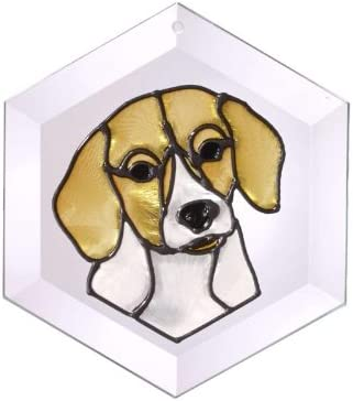 Beagle Painted Stained Glass Suncatcher Ew-206