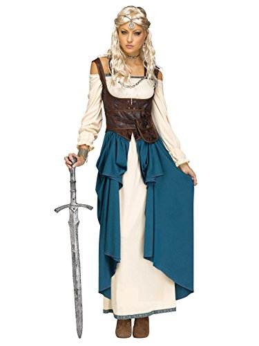 Fun World Women's Viking Queencostume, Multi, -