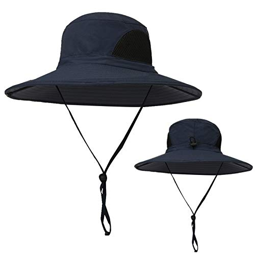 Outdoor Boonie Sun Hat - UPF 50+ Protection Wide Brim Waterproof Cap for Safari Fishing Hunting Neck Face Flap Summer -