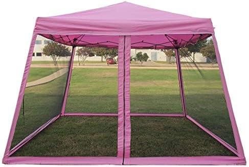 8x8 10x10 Pop up Canopy Party Tent Gazebo Ez with Net (Pink