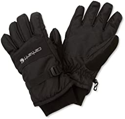 Carhartt Men\'s W.P. Waterproof Insulated Work Glove, Black, Large