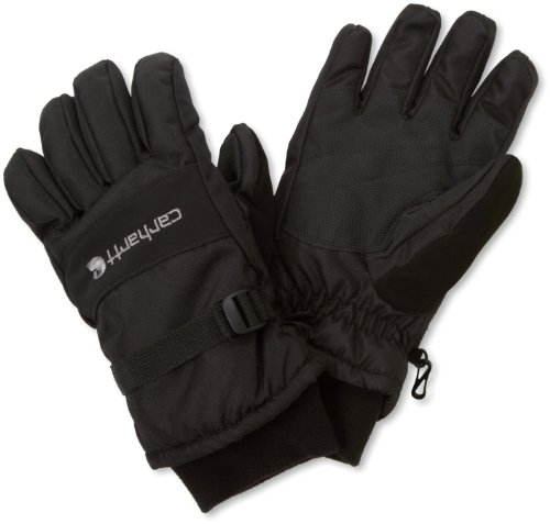 (Carhartt Men's W.p. Waterproof Insulated Work Glove, Black, Large)