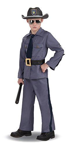 State Trooper Boys Costume - Child Medium -