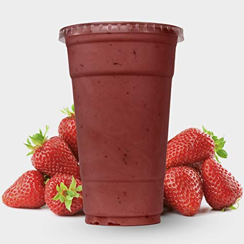 - CUPWORKS 24 Oz Cups 100 Sets | Vibrant Plastic clear PET Cups with Flat lids | BPA free | Premium Quality Disposable Cups | Perfect for cold beverages such as Smoothies, Juice, Soda, lemonade etc.