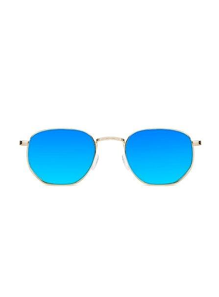 KOALA BAY Gafas de Sol Cocoa Oro Lentes Azul Celeste