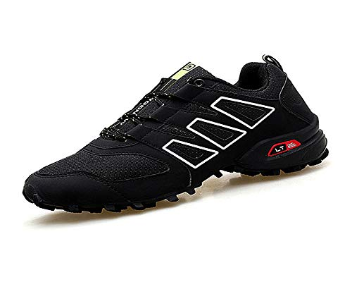 sadness n Men's Hiking Shoes Non Slip Outdoor Lace up Climbing Trail Running Shoes(Black-Lable 43/9 D(M) US Men)