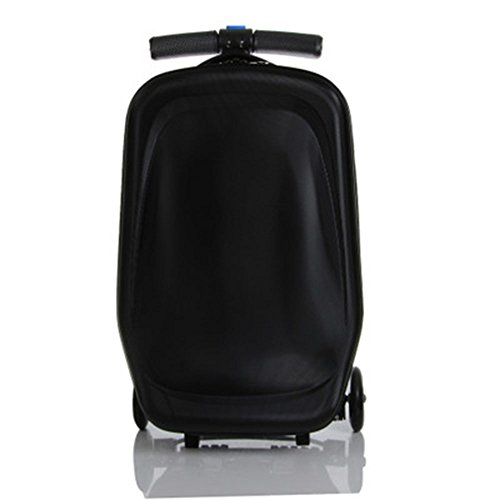 Scooter-Suitcase Ride-on Travel Trolley Luggage, Black - Purple Random Color