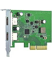 QNAP QXP-10G2U3A – USB 3.2 Gen 2 expansionskort – upp till 10 Gbps hastighet för snabb filöverföring och lagringsexpansion
