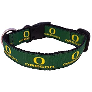 NCAA Oregon Ducks Dog Collar, Team Color, Large