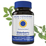 Rejuvenation Therapeutics Premium Organic Elderberry – Organic Elderberry Extract – Elderberry Capsules for Immune Support – Elderberry Cold Fighter – Vegan Friendly Review
