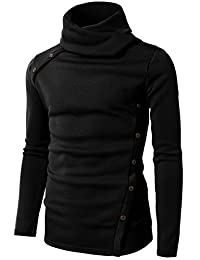 H2H Mens Casual Slim Fit Button Point Knitted Pullover Sweaters