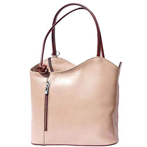 (JAENIS NICHOLE - Convertible Purses and Handbags for Women, Shoulder-Backpack Purses, Genuine Soft Italian Leather -Cloe)