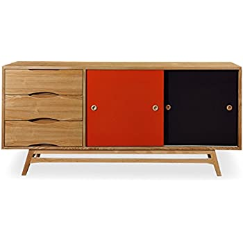 mid century modern credenza toronto color pop sideboard oak orange charcoal doors teak for sale plans