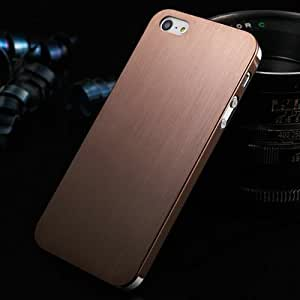 ModernGut 0.3mm Thin Brushed Aluminum case for iPhone 5 5S Hard Luxury, Titanium steel mesh Metal back cover for iphone 5g pcs/lot