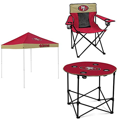 San Francisco 49ers Tent, Table and Chair Package