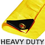 6' x 8' Heavy Duty Premium Yellow Poly Tarp 12 Mil Thickness