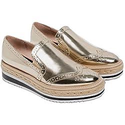 ZARA Gold Metallic Platform Women Shoes. Size 40 EUR (9 US)