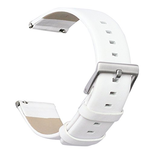 For Fitbit Blaze Bands, bayite Accessory Leather Wristband for Fitbit Blaze Smart Watch White Large 6.3 - 8.1 inches