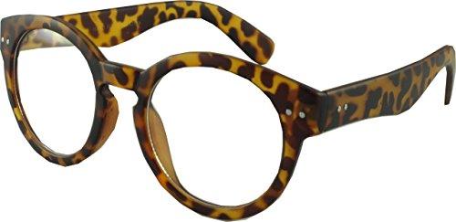 Revive Eyewear Men's Retro College 50's Preppy Style Brown Frame/ Clear Lens Non Polarized Glasses - Glasses Preppy Frames